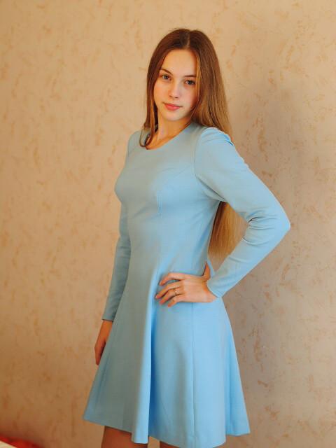 Голубое платье от Tulyachka
