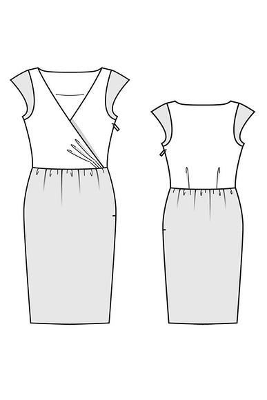 Как сшить платье, отрезное поталии