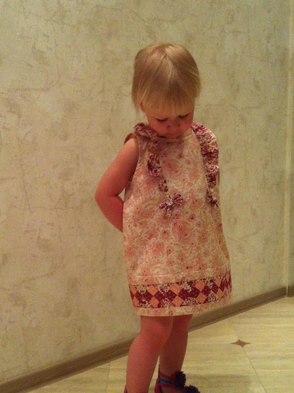 Платье длямалышки встиле Пэчворк