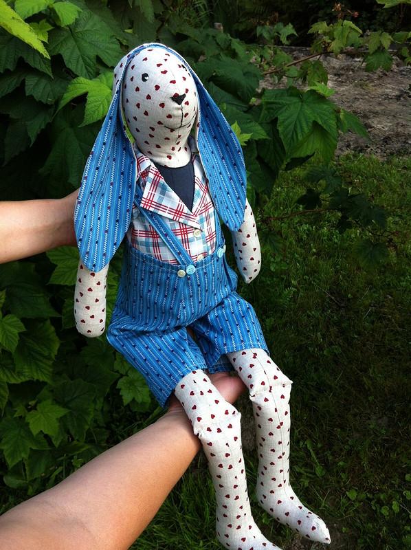 Текстильный заяц