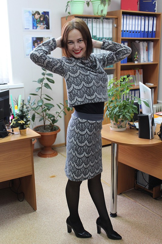 Серость разбавим красной помадой от Olga Demidenko