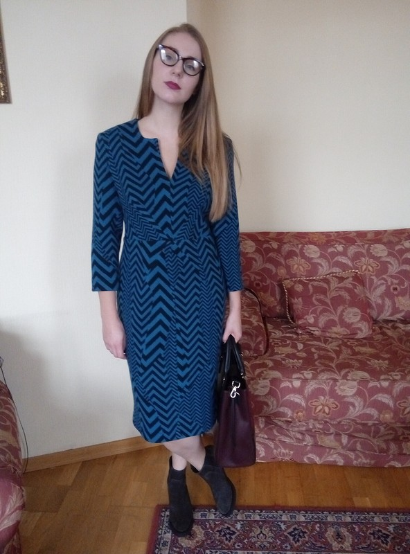 Платье изплотного трикотажа от IrinaChemelkova