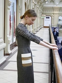 Работа с названием Платье с карманами аля Max Mara