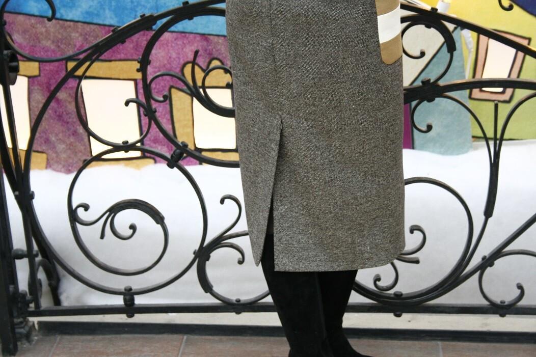 Платье скарманами аля Max Mara