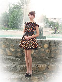 Работа с названием Платье на выпускной для дочки