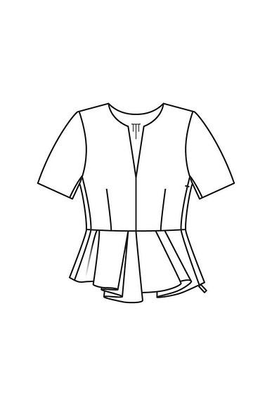Как сшить блузку сбаской