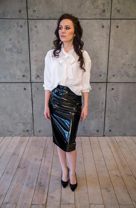 Виниловая юбка
