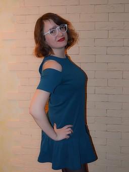 Работа с названием Платье цвета мурена