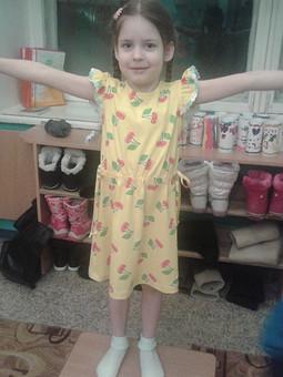 Работа с названием Платье детское трикотажное