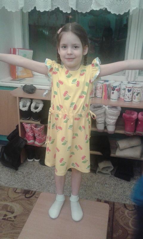 Платье детское трикотажное от leo74