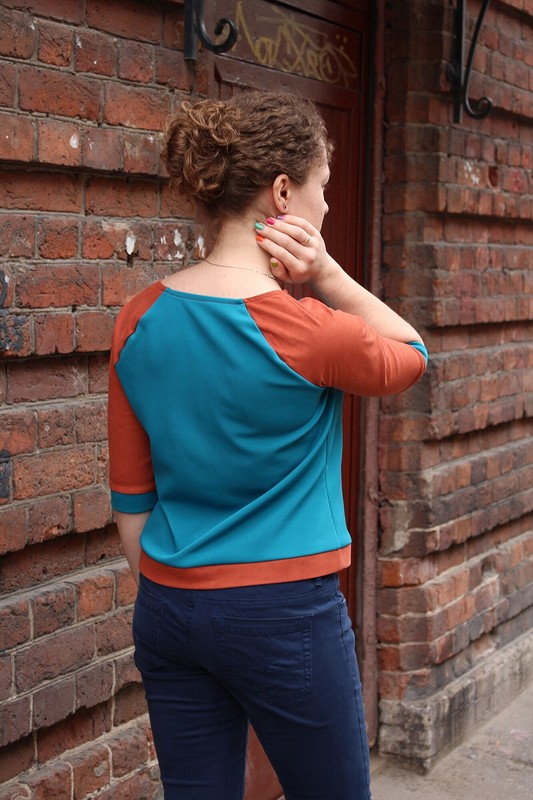 Пуловер срукавами иззамши от МариШок