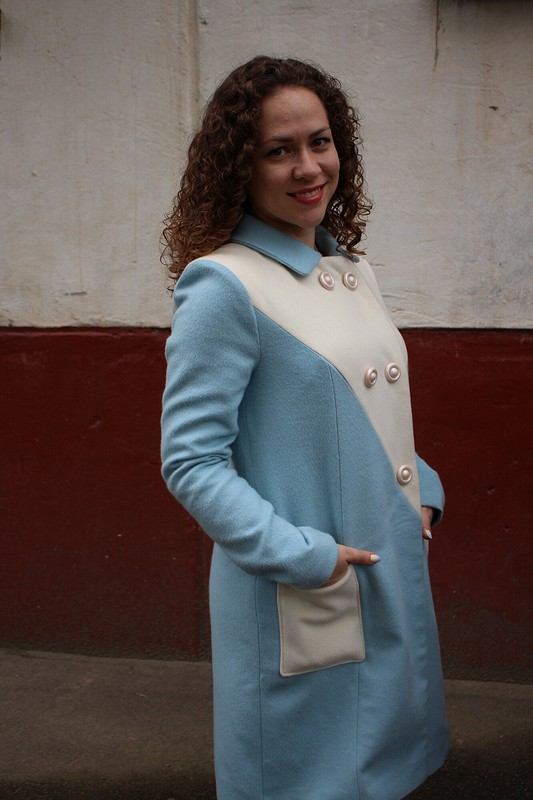 Пальто цвета «Безмятежность» от МариШок