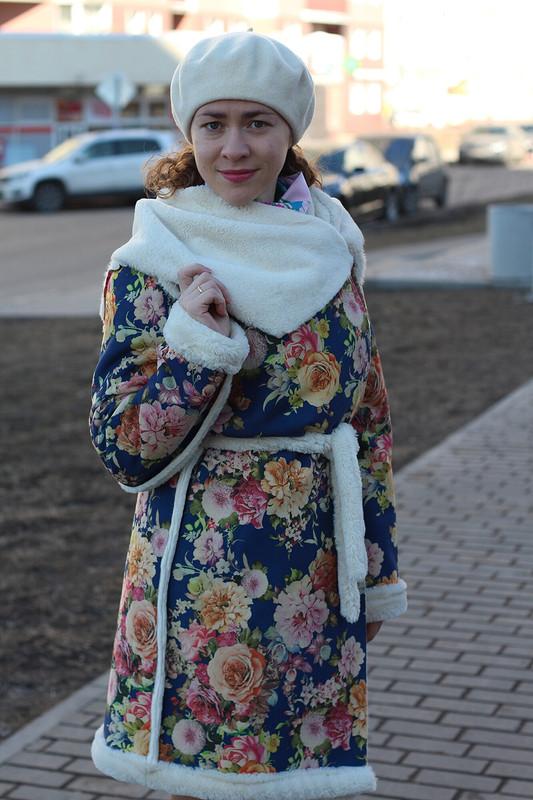 Дубленка «Цветы» от МариШок