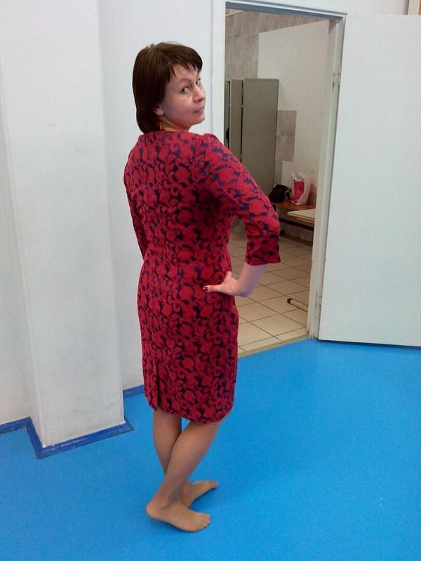 Платье футляр сдрапировкой