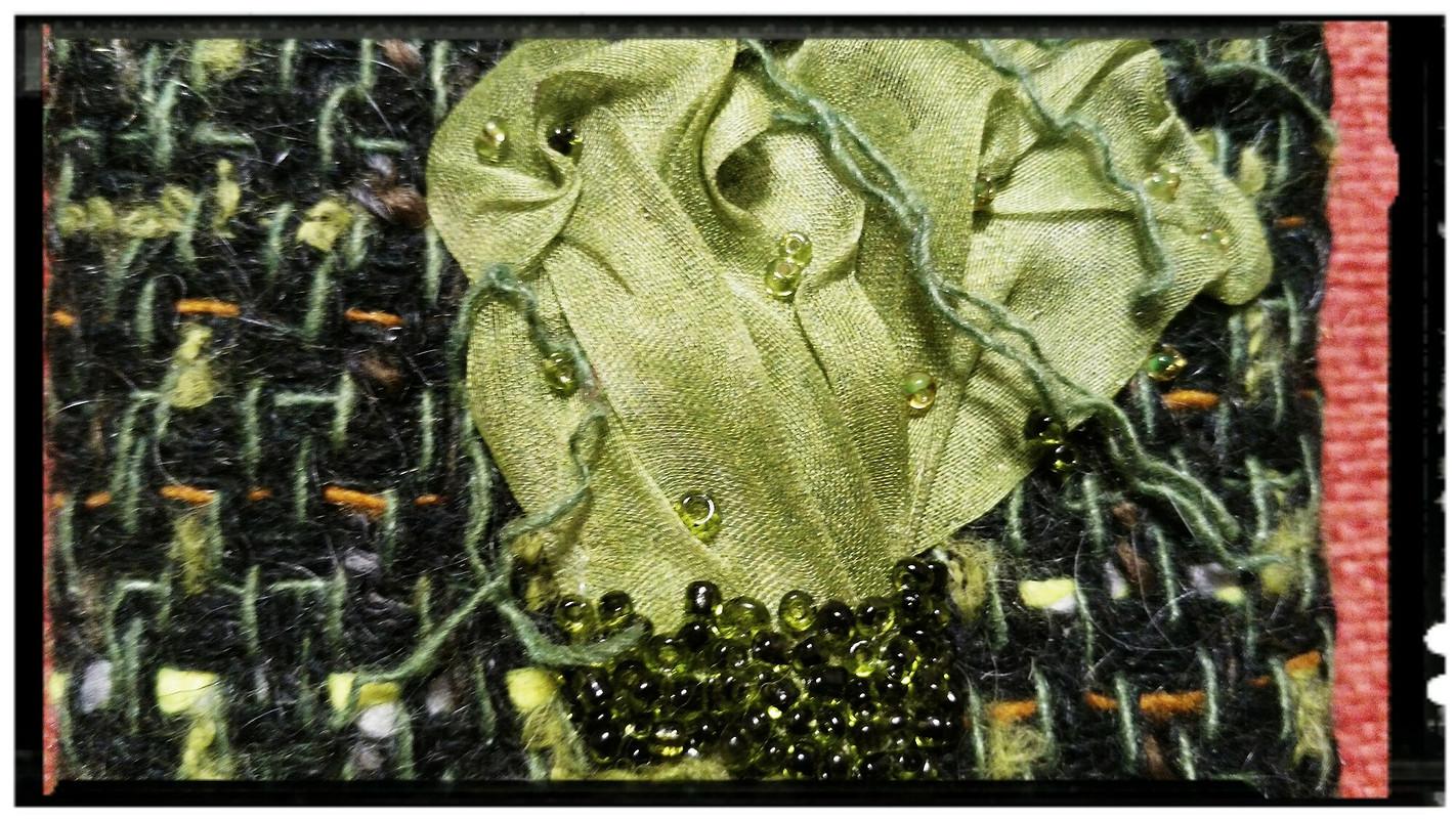 Брошь «Зеленый цветок» от NormaMS