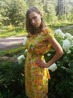 Работа с названием Шифоновое платье