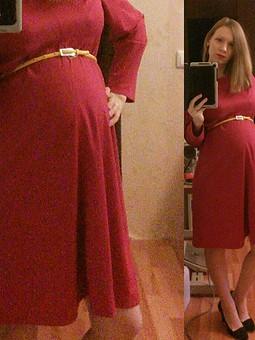 Работа с названием Свободное платье для беременных