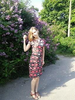 Работа с названием Мое первое платье из трикотажа