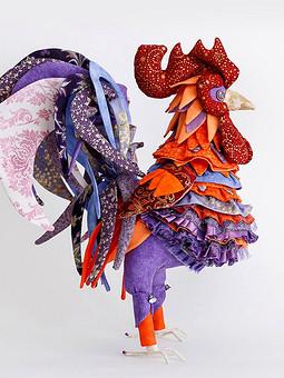 Работа с названием Текстильный петух