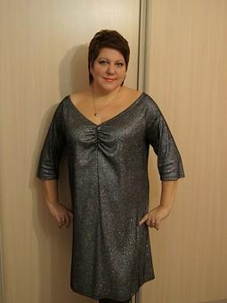 Работа с названием Блестящее платье
