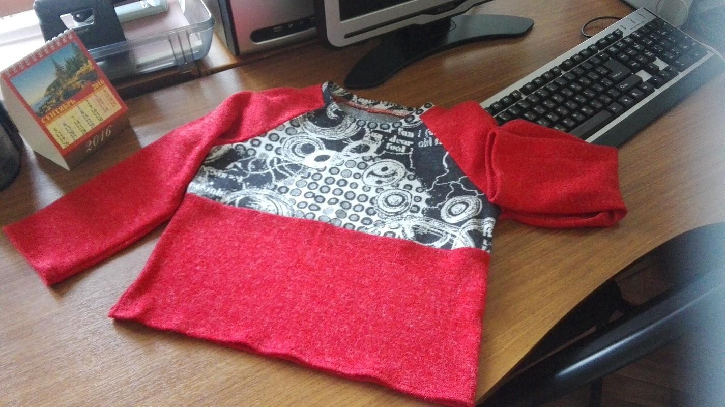 Юля! Поздравляем! или детский пуловер