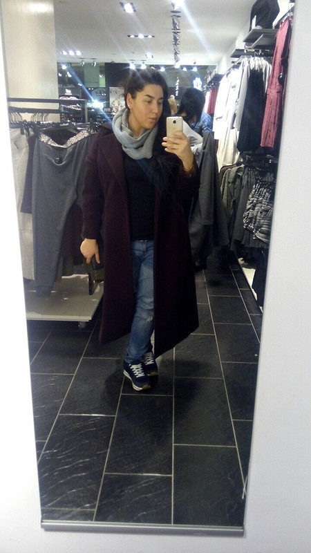 Пальто овер набольшой размер от Лиля