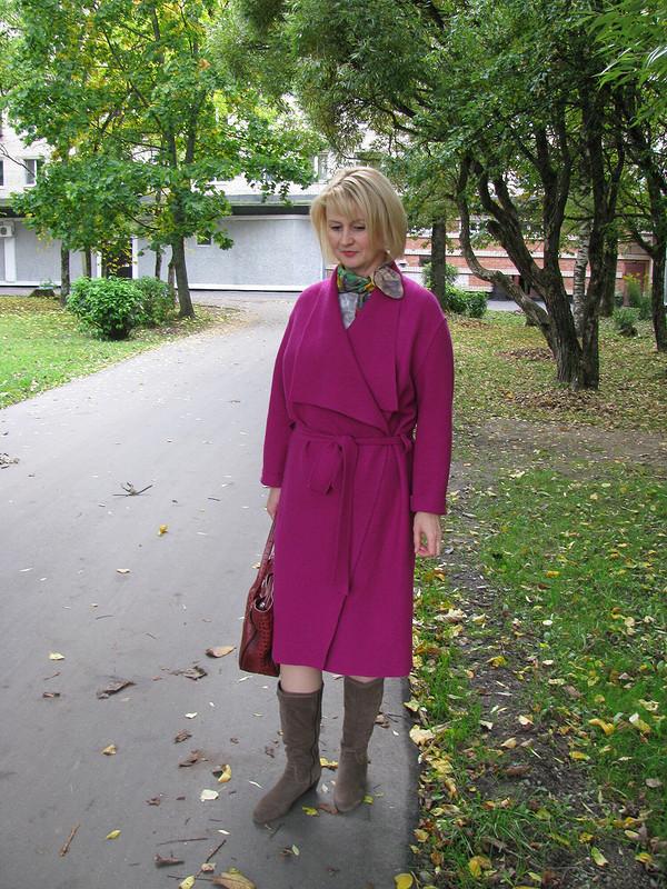 Пальто-халат цвета фуксии