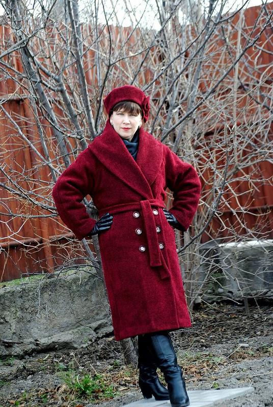 Пальто-халат избукле