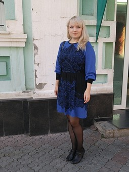 Работа с названием Очередное синее платье )
