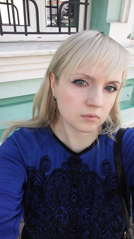 Очередное синее платье )