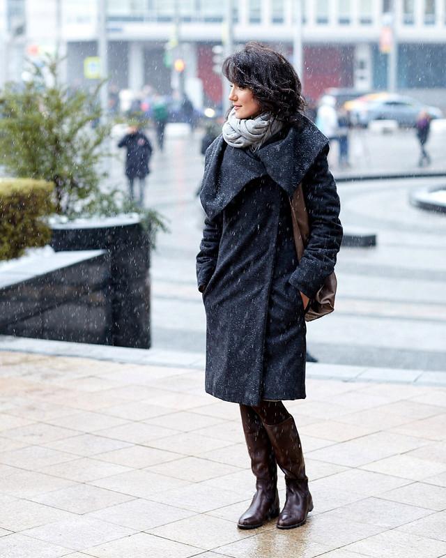 Плед-пальто