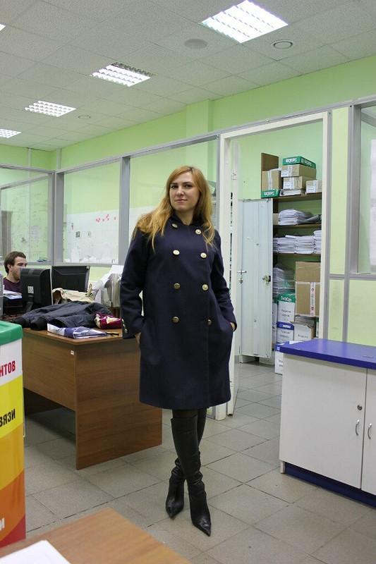Пальто скапюшоном от Elena M.