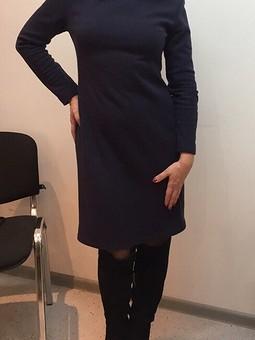 Работа с названием Платье трикотажное