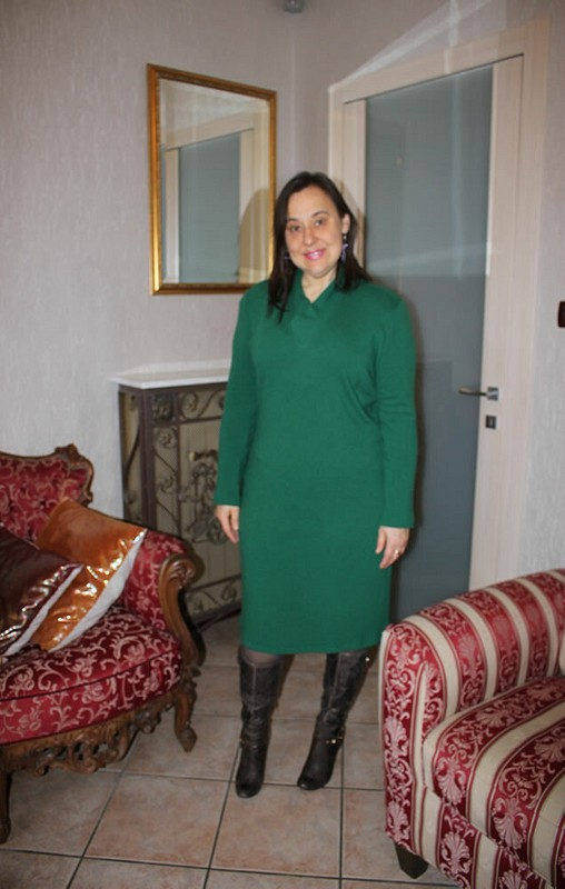 Тёпленькое платье от helenkova