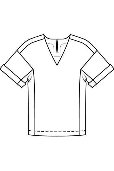 Блузка свободного кроя: мастер-класс