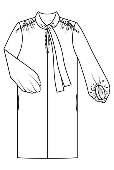 Как сшить платье рубашечного кроя
