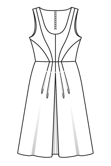 Шьём платье приталенного силуэта спышной юбкой