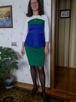 Работа с названием Блузон и юбка