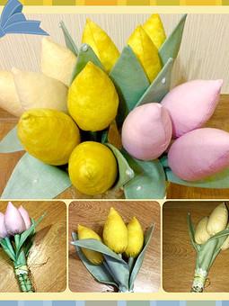 Работа с названием Тюльпаны неувядающие
