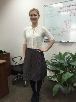 Работа с названием Комплект- юбка и блузка