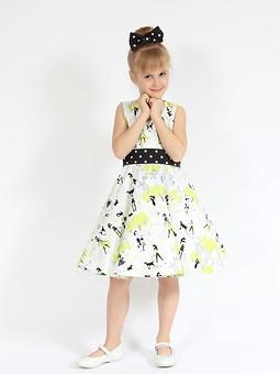 Работа с названием Детские платья с юбкой солнце-клеш
