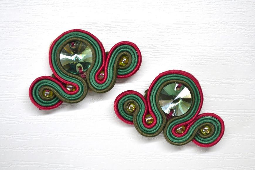 Сутажный браслет сэлементами Swarovski