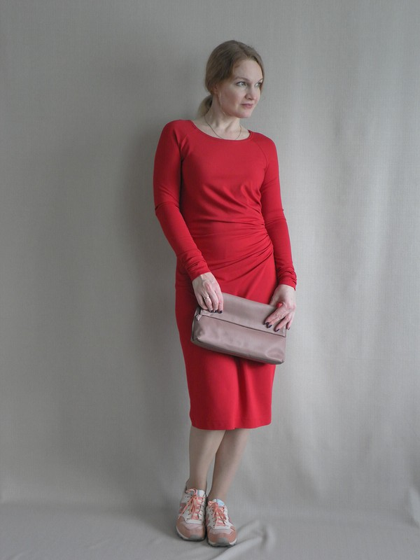 Томатное платье
