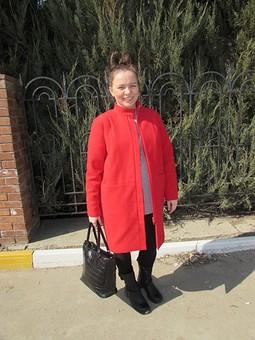 Работа с названием Cтильное пальто для будущей мамочки