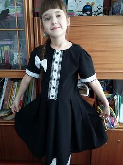 Работа с названием Школьное платье и  жакет