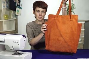 Как сшить сумку-тоут из натуральной замши (видео)