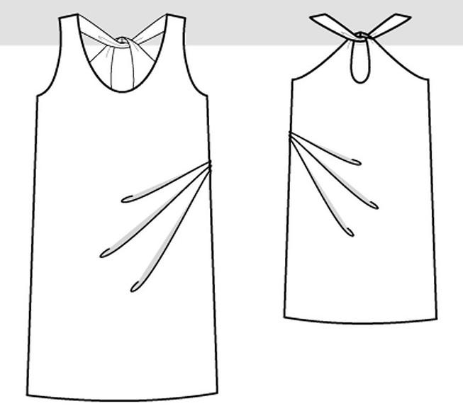 Летнее платье сглубоким декольте своими руками