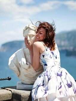 Работа с названием Платье из органзы Valentino