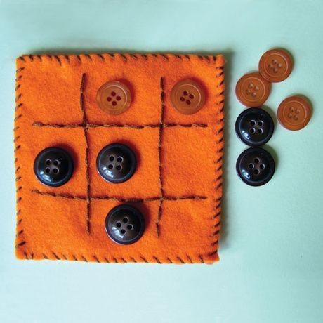 Переносная игра «крестики-нолики» своими руками