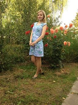 Работа с названием Джинсовое платье